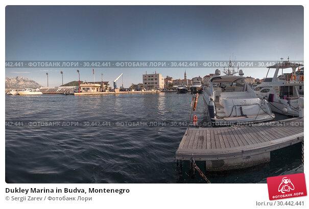 Купить «Dukley Marina in Budva, Montenegro», фото № 30442441, снято 10 июля 2018 г. (c) Sergii Zarev / Фотобанк Лори