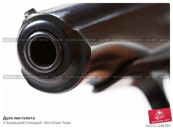 Дуло пистолета, фото № 240597, снято 28 октября 2016 г. (c) Кравецкий Геннадий / Фотобанк Лори