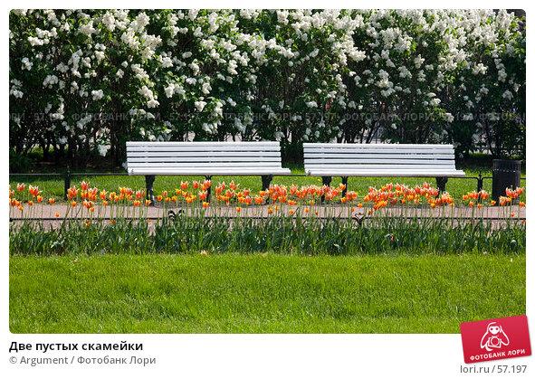 Две пустых скамейки, фото № 57197, снято 30 мая 2007 г. (c) Argument / Фотобанк Лори