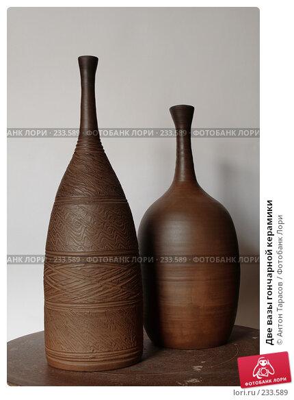 Две вазы гончарной керамики, фото № 233589, снято 15 марта 2008 г. (c) Антон Тарасов / Фотобанк Лори
