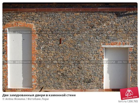 Купить «Две замурованныя двери в каменной стене», фото № 200765, снято 9 февраля 2008 г. (c) Алёна Фомина / Фотобанк Лори