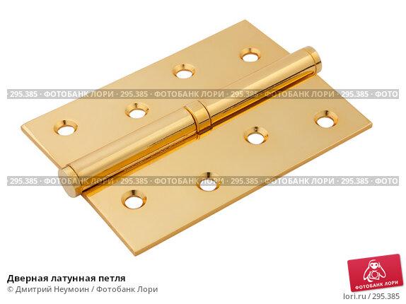Купить «Дверная латунная петля», эксклюзивное фото № 295385, снято 15 апреля 2008 г. (c) Дмитрий Неумоин / Фотобанк Лори