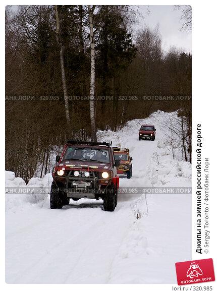 Купить «Джипы на зимней российской дороге», фото № 320985, снято 1 марта 2008 г. (c) Sergey Toronto / Фотобанк Лори