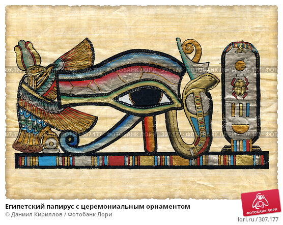 Египетский папирус с церемониальным орнаментом, фото № 307177, снято 20 августа 2017 г. (c) Даниил Кириллов / Фотобанк Лори