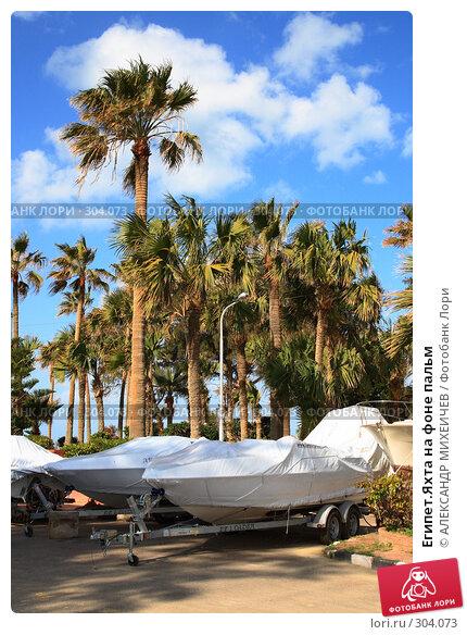 Египет.Яхта на фоне пальм, фото № 304073, снято 26 февраля 2008 г. (c) АЛЕКСАНДР МИХЕИЧЕВ / Фотобанк Лори