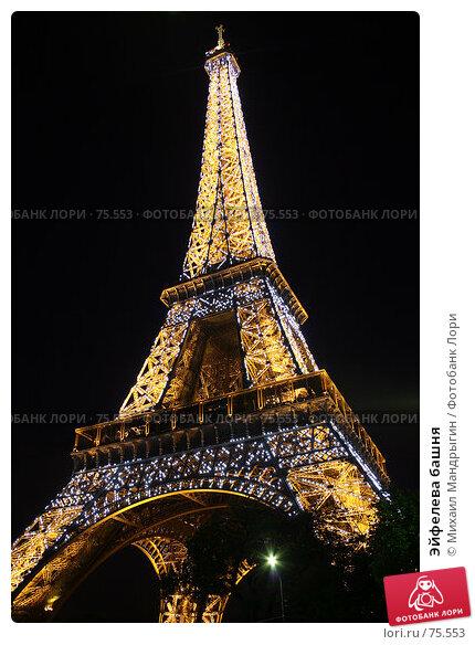 Эйфелева башня, фото № 75553, снято 6 января 2005 г. (c) Михаил Мандрыгин / Фотобанк Лори