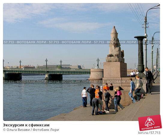 Экскурсия к сфинксам, эксклюзивное фото № 57713, снято 8 мая 2004 г. (c) Ольга Визави / Фотобанк Лори