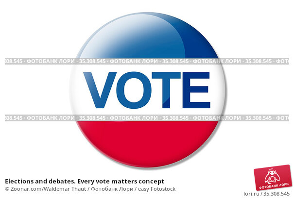 Elections and debates. Every vote matters concept. Стоковое фото, фотограф Zoonar.com/Waldemar Thaut / easy Fotostock / Фотобанк Лори