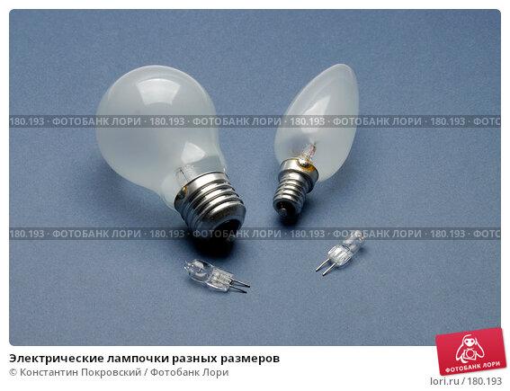 Электрические лампочки разных размеров, фото № 180193, снято 16 января 2008 г. (c) Константин Покровский / Фотобанк Лори