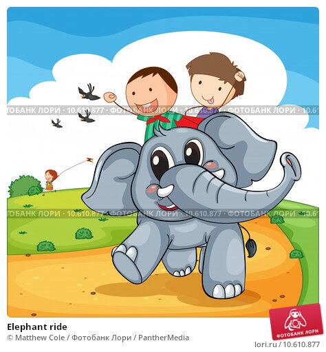 Elephant ride. Стоковая иллюстрация, иллюстратор Matthew Cole / PantherMedia / Фотобанк Лори