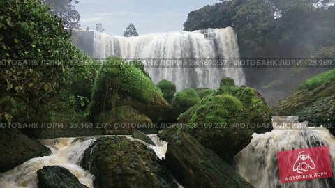 Купить «Elephant waterfall, one of the most famous and beautiful waterfalls in the highlands of Eastern Vietnam near Da Lat city», видеоролик № 28169237, снято 11 февраля 2017 г. (c) Алексей Кузнецов / Фотобанк Лори