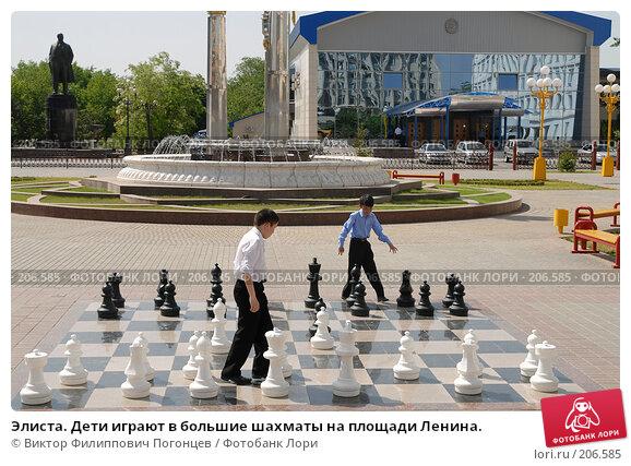 Купить «Элиста. Дети играют в большие шахматы на площади Ленина.», фото № 206585, снято 25 мая 2007 г. (c) Виктор Филиппович Погонцев / Фотобанк Лори