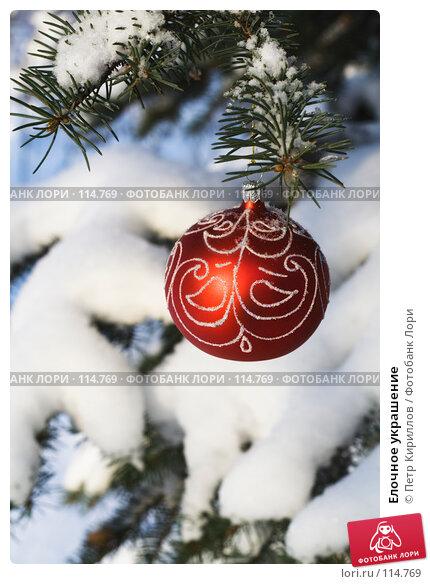 Купить «Елочное украшение», фото № 114769, снято 11 ноября 2007 г. (c) Петр Кириллов / Фотобанк Лори