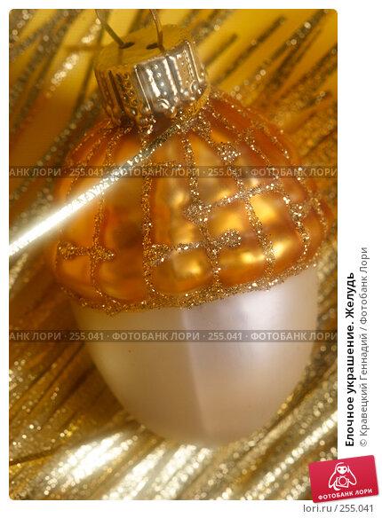Елочное украшение. Желудь, фото № 255041, снято 15 ноября 2004 г. (c) Кравецкий Геннадий / Фотобанк Лори