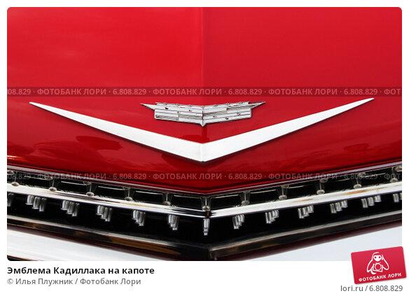 Эмблема Кадиллака на капоте (2012 год). Редакционное фото, фотограф Илья Плужник / Фотобанк Лори