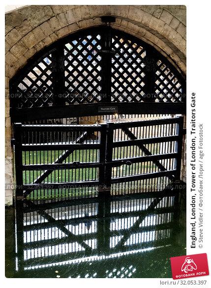 England, London, Tower of London, Traitors Gate. Стоковое фото, фотограф Steve Vidler / age Fotostock / Фотобанк Лори