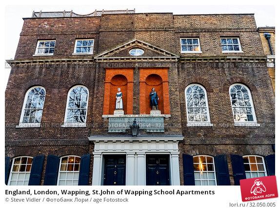 England, London, Wapping, St.John of Wapping School Apartments. Стоковое фото, фотограф Steve Vidler / age Fotostock / Фотобанк Лори