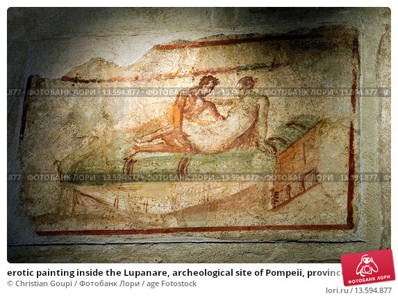 Купить «erotic painting inside the Lupanare, archeological site of Pompeii, province of Naples, Campania region, southern Italy, Europe», фото № 13594877, снято 22 июня 2007 г. (c) age Fotostock / Фотобанк Лори