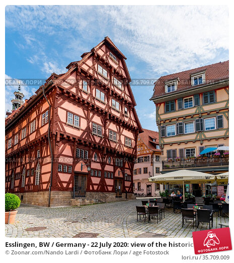Esslingen, BW / Germany - 22 July 2020: view of the historic old ... Стоковое фото, фотограф Zoonar.com/Nando Lardi / age Fotostock / Фотобанк Лори