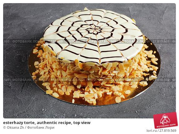 Купить «esterhazy torte, authentic recipe, top view», фото № 27819569, снято 8 февраля 2018 г. (c) Oksana Zh / Фотобанк Лори
