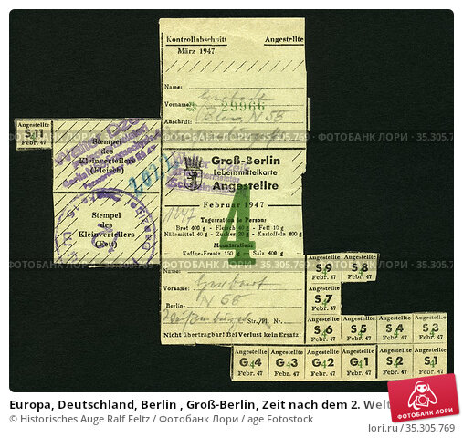 Europa, Deutschland, Berlin , Groß-Berlin, Zeit nach dem 2. Weltkrieg... Редакционное фото, фотограф Historisches Auge Ralf Feltz / age Fotostock / Фотобанк Лори