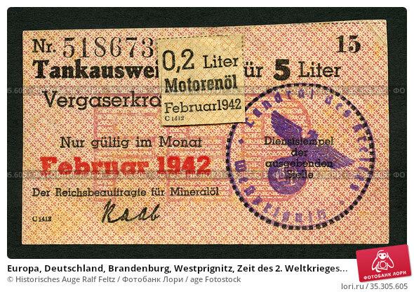 Europa, Deutschland, Brandenburg, Westprignitz, Zeit des 2. Weltkrieges... Редакционное фото, фотограф Historisches Auge Ralf Feltz / age Fotostock / Фотобанк Лори