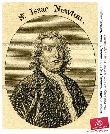 Europa, Großbritannien, England, London, Sir Isaac Newton, englischer... Редакционное фото, фотограф Historisches Auge Ralf Feltz / age Fotostock / Фотобанк Лори