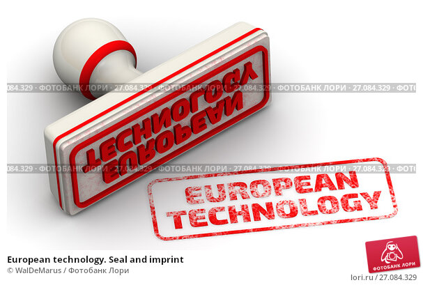 Купить «European technology. Seal and imprint», иллюстрация № 27084329 (c) WalDeMarus / Фотобанк Лори