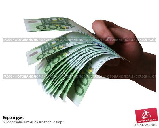 Евро в руке, фото № 247009, снято 9 апреля 2008 г. (c) Морозова Татьяна / Фотобанк Лори