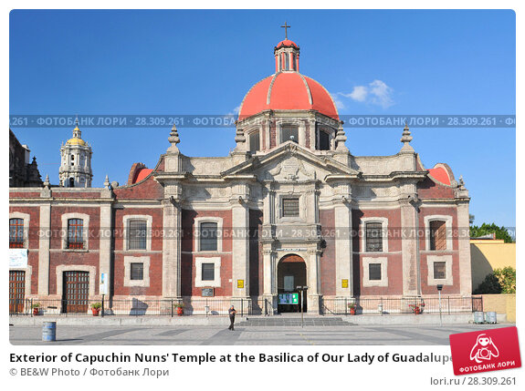 Купить «Exterior of Capuchin Nuns' Temple at the Basilica of Our Lady of Guadalupe in Mexico City», фото № 28309261, снято 24 апреля 2018 г. (c) BE&W Photo / Фотобанк Лори