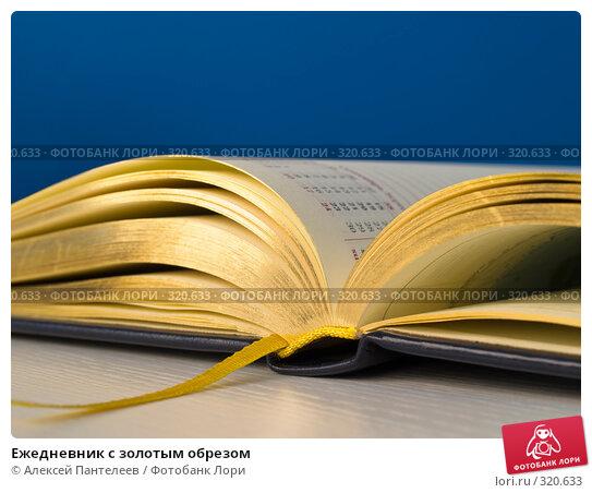 Купить «Ежедневник с золотым обрезом», фото № 320633, снято 11 июня 2008 г. (c) Алексей Пантелеев / Фотобанк Лори
