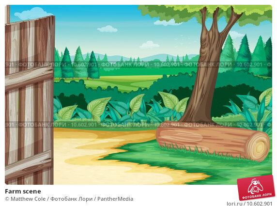 Farm scene. Стоковая иллюстрация, иллюстратор Matthew Cole / PantherMedia / Фотобанк Лори