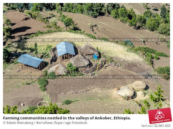 Farming communities nestled in the valleys of Ankober, Ethiopia. Стоковое фото, фотограф Edwin Remsberg / age Fotostock / Фотобанк Лори