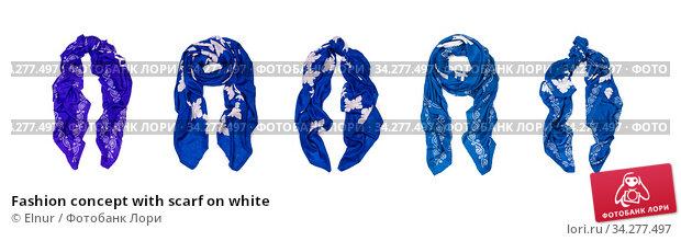 Fashion concept with scarf on white. Стоковое фото, фотограф Elnur / Фотобанк Лори