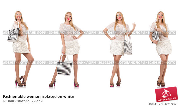 Купить «Fashionable woman isolated on white», фото № 30698937, снято 17 июня 2019 г. (c) Elnur / Фотобанк Лори