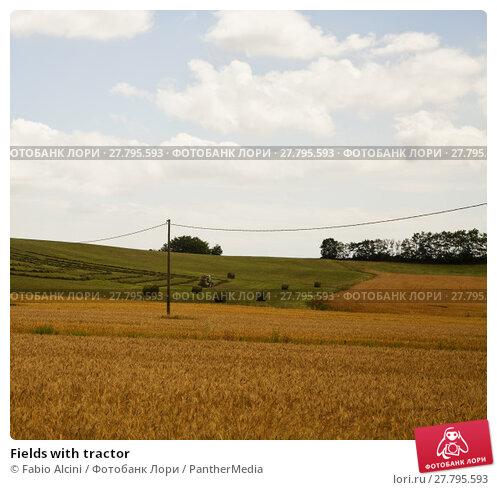 Купить «Fields with tractor», фото № 27795593, снято 22 февраля 2018 г. (c) PantherMedia / Фотобанк Лори
