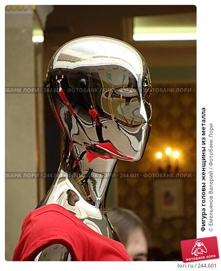 Фигура головы женщины из металла, фото № 244601, снято 1 апреля 2008 г. (c) Емельянов Валерий / Фотобанк Лори