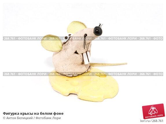 Фигурка крысы на белом фоне, фото № 268761, снято 1 мая 2008 г. (c) Антон Белицкий / Фотобанк Лори