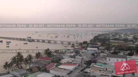 Купить «Fishing Boat and sea Pier lighthouse sunset time in Asia», видеоролик № 32391821, снято 5 ноября 2019 г. (c) Aleksejs Bergmanis / Фотобанк Лори