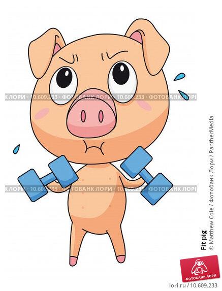Fit pig. Стоковая иллюстрация, иллюстратор Matthew Cole / PantherMedia / Фотобанк Лори