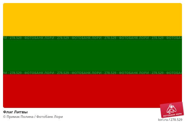 Флаг Литвы, фото № 278529, снято 6 апреля 2008 г. (c) Примак Полина / Фотобанк Лори