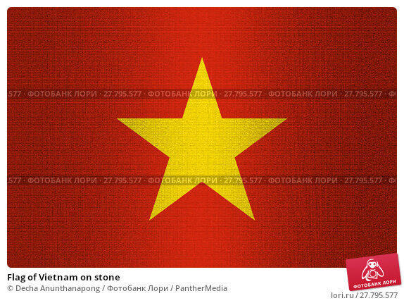Купить «Flag of Vietnam on stone», фото № 27795577, снято 17 октября 2018 г. (c) PantherMedia / Фотобанк Лори
