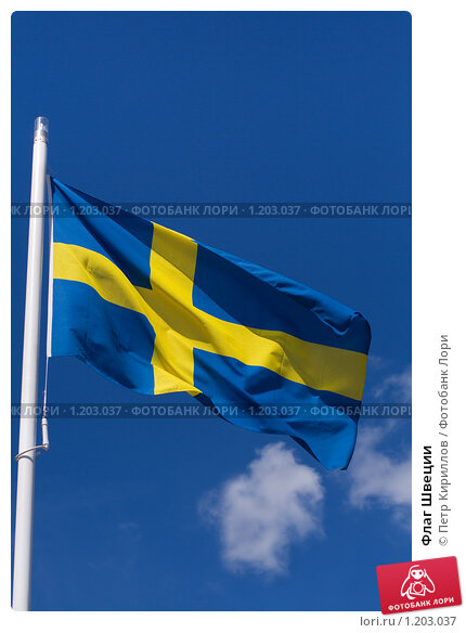 Флаг Швеции. Стоковое фото, фотограф Петр Кириллов / Фотобанк Лори