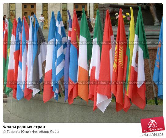 Купить «Флаги разных стран», фото № 64605, снято 16 июля 2007 г. (c) Татьяна Юни / Фотобанк Лори