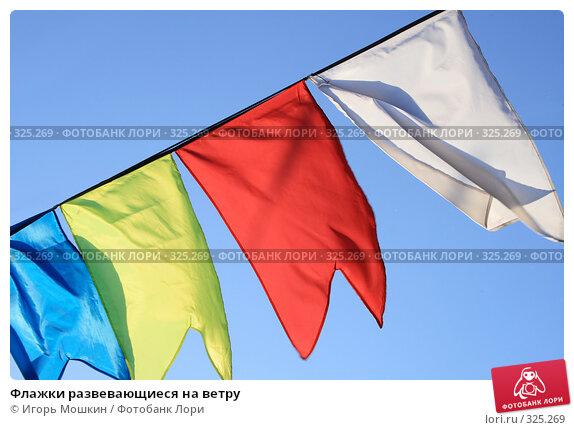 Флажки развевающиеся на ветру, фото № 325269, снято 13 июня 2008 г. (c) Игорь Мошкин / Фотобанк Лори
