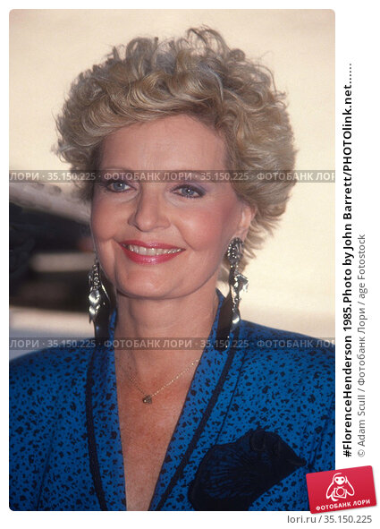 #FlorenceHenderson 1985.Photo by John Barrett/PHOTOlink.net...... Редакционное фото, фотограф Adam Scull / age Fotostock / Фотобанк Лори