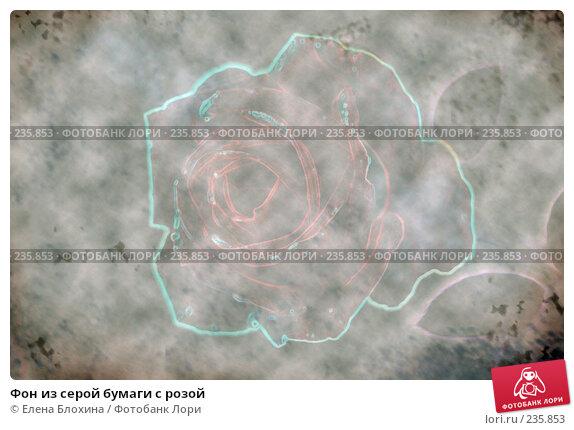 Фон из серой бумаги с розой, иллюстрация № 235853 (c) Елена Блохина / Фотобанк Лори