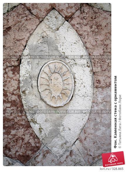 Купить «Фон. Каменная стена с орнаментом», эксклюзивное фото № 328865, снято 6 мая 2008 г. (c) Татьяна Лата / Фотобанк Лори
