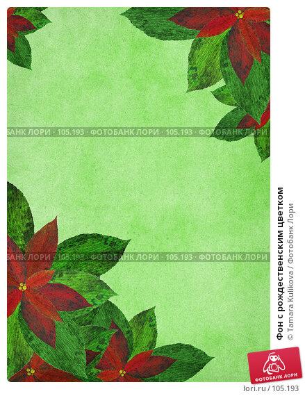 Купить «Фон с рождественским цветком», иллюстрация № 105193 (c) Tamara Kulikova / Фотобанк Лори