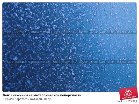Купить «Фон: снежинки на металлической поверхности», фото № 203685, снято 1 января 2008 г. (c) Роман Коротаев / Фотобанк Лори